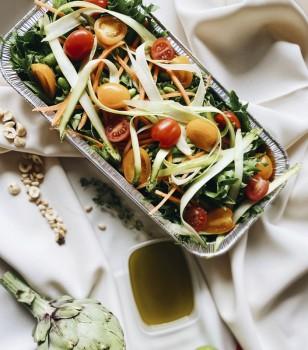Lapu un dārzeņu salāti