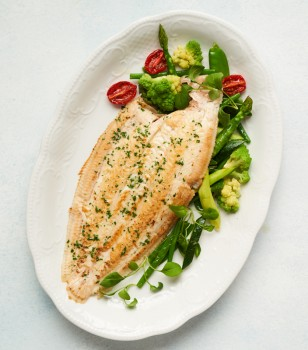 Oven roasted doversole